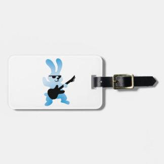 Rocker rabbit luggage tag
