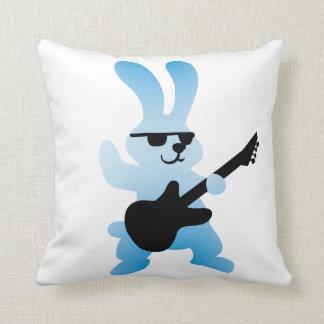 Rocker rabbit throw pillow