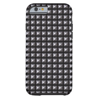 Rocker Style Industrial Rebel Metallic Spikes Tough iPhone 6 Case