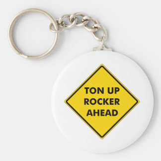 Rockers Caution Sign Keychain