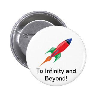 Rocket 2 Inch Round Button