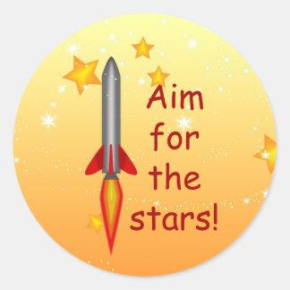 Rocket Aim for the Stars Teacher Grading Stickers