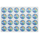 Rocket City Modern Quilt Guild Logo Tiled Fabric