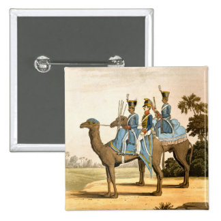Rocket Corps and Dromedary Corps, Bengal Army 1817 2 Inch Square Button