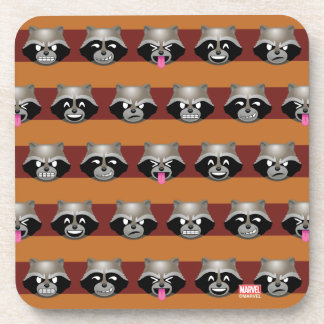 Rocket Emoji Stripe Pattern Coaster