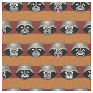 Rocket Emoji Stripe Pattern Fabric