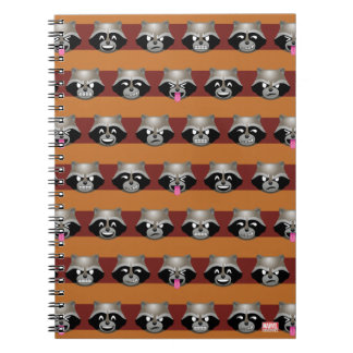 Rocket Emoji Stripe Pattern Notebook