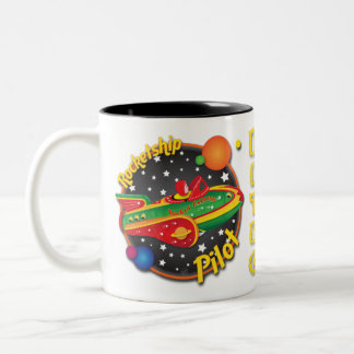 Rocket Express Rocket Ship Pilot Mug Design