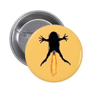 Rocket Frog 2 Inch Round Button