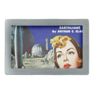 Rocket Girl Rectangular Belt Buckle