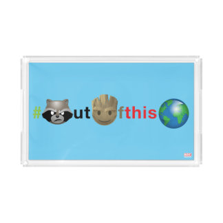Rocket & Groot #outofthisworld Emoji Acrylic Tray