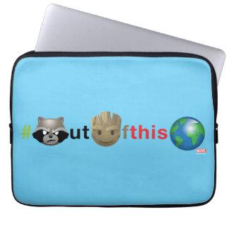Rocket & Groot #outofthisworld Emoji Laptop Sleeve
