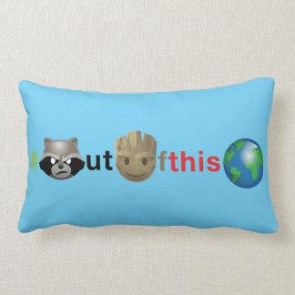 Rocket & Groot #outofthisworld Emoji Lumbar Pillow