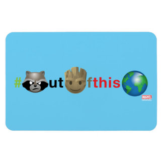 Rocket & Groot #outofthisworld Emoji Magnet