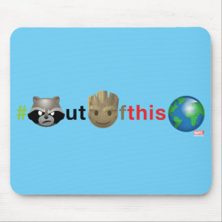 Rocket & Groot #outofthisworld Emoji Mouse Pad