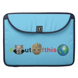 Rocket & Groot #outofthisworld Emoji Sleeve For MacBook Pro