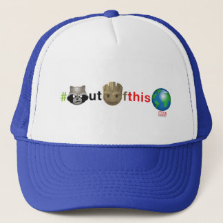 Rocket & Groot #outofthisworld Emoji Trucker Hat