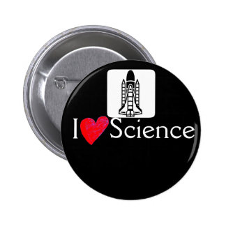 Rocket I love science Button
