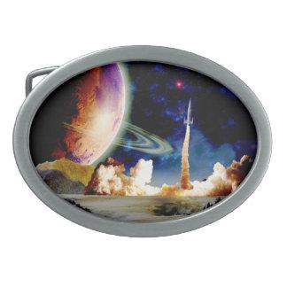 Rocket Launch Belt Buckle