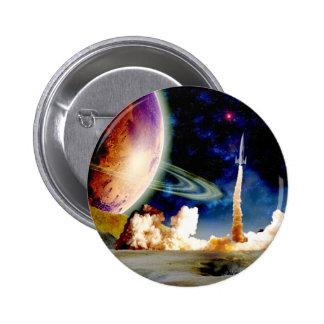 Rocket Launch Pinback Buttons