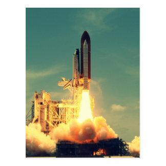 Rocket launch postcard