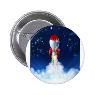 Rocket Lift Off 2 Inch Round Button