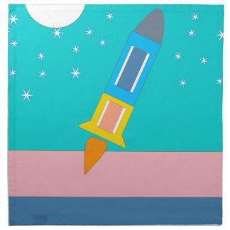 rocket napkin