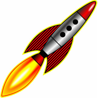 Rocket Photo Sculpture Button