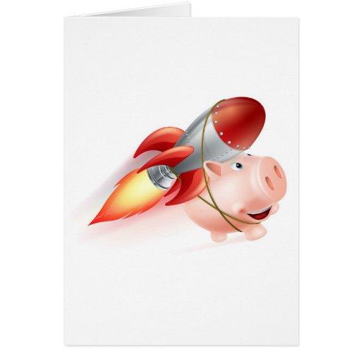 Rocket Piggy Bank Cards