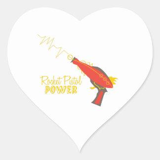 Rocket Pistol Power Stickers