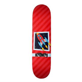 Rocket ; Rayures de rouge d'écarlate Skateboards Customisés