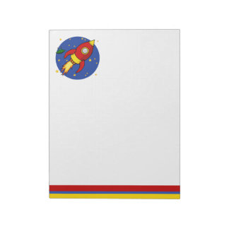 """Rocket red 11"""" x 8.5"""" Notepad"""