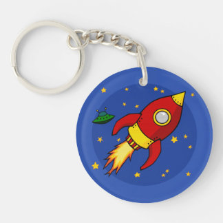 Rocket red Acrylic (double-sided) Keychain