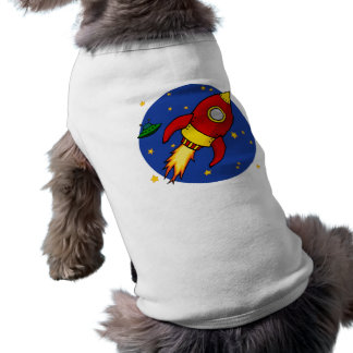 Rocket red Doggie Ribbed Tank Top Pet Tshirt