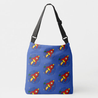 Rocket Red pattern All-Over-Print Cross Body Bag