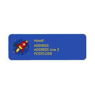 Rocket red Return Address Labels