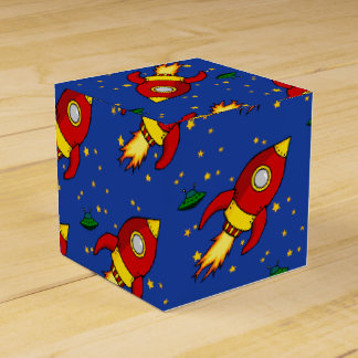 Rocket red yellow Classic Favor Box
