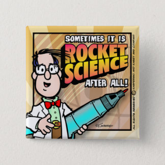 Rocket Science 2 Inch Square Button