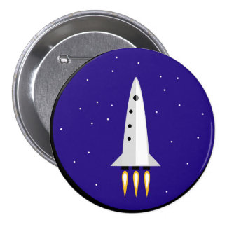 Rocket Science 3 Inch Round Button
