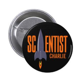 Rocket Scientist custom monogram buttons