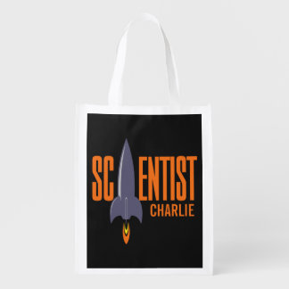 Rocket Scientist custom name reusable bag