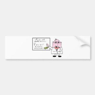 Rocket Scientist-Print Money Bumper Sticker