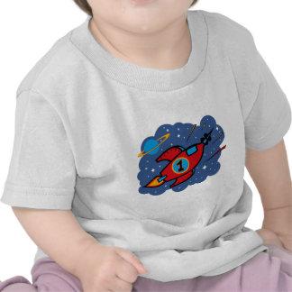 Rocket Ship 1st Birthday Tee Shirt