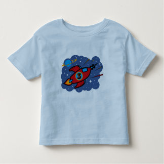 Rocket Ship 3rd Birthday Toddler T-shirt