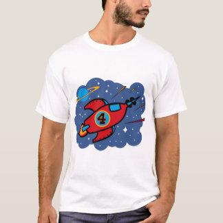 Rocket Ship 4th Birthday T-Shirt
