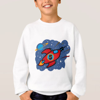 Rocket Ship 5th Birthday Sweatshirt