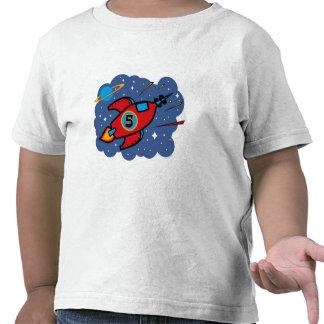Rocket Ship 5th Birthday Shirts