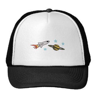 ROCKET SHIP AND SATURN TRUCKER HAT