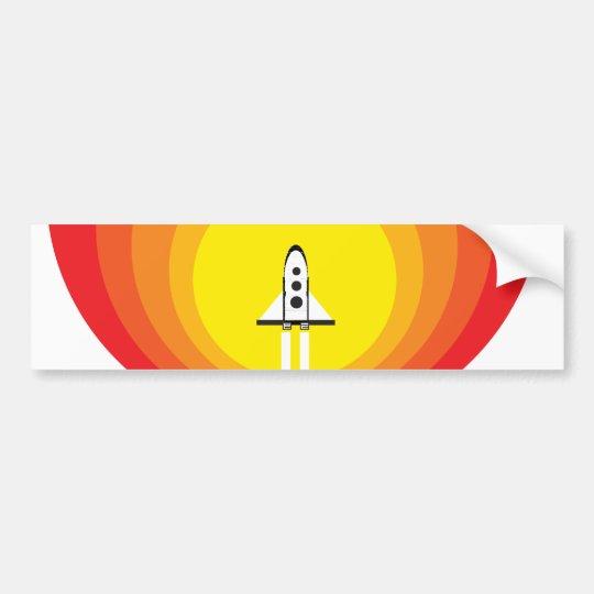 Rocket ship and the sunspot bumper sticker