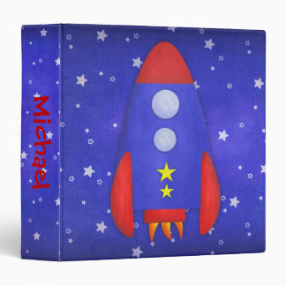 Rocket Ship Binder